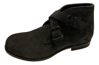 Bottega Veneta Grey Suede Boots