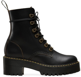 Dr. Martens Leona Leather Combat Boots