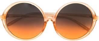 Linda Farrow Round Gradient Sunglasses