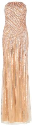 Pamella Roland Blush Embellished Tulle Gown