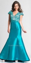 Dave and Johnny Beaded Mermaid Prom Dress