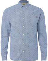 Jack and Jones Originals Mutough Printed Long Sleeve Shirt - Cashmere Blue