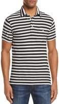 Todd Snyder Striped Short Sleeve Pocket Polo Shirt