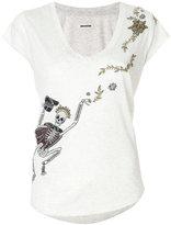 Zadig & Voltaire embellished skeleton T-shirt