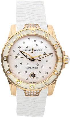 Ulysse Nardin Women's Rubber Diamond Watch