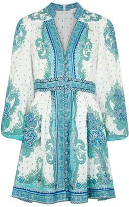 Zimmermann Bells printed linen mini dress