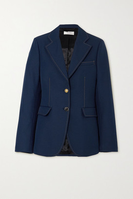Wales Bonner Blues Topstitched Twill Blazer - Navy