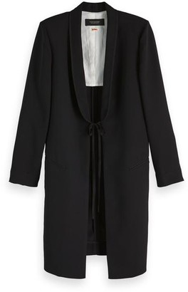 Scotch & Soda Longline Blazer - small - Black