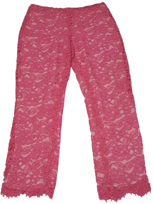 Ralph Lauren Pink Cotton Trousers for Women