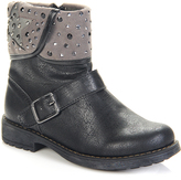 Jelly Beans Black Fold-Over Buckle Boot