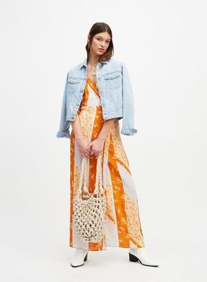 Miss Selfridge Lilac Scarf Print Kimono Sleeve Maxi Dress