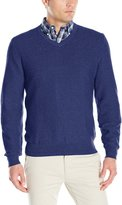 Izod Men's Allover Links Vee with Pre-Twist Yarn Sweater