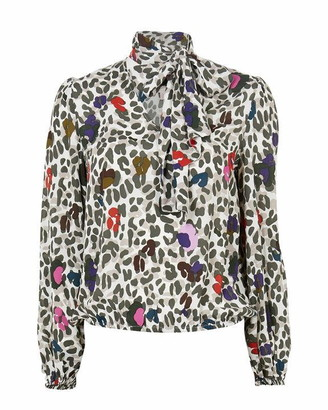 Ted Baker Charia Wilderness Tie Neck Blouse