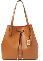 Ralph Lauren Leather Diana Drawstring Tote