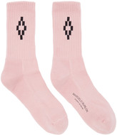 Marcelo Burlon County of Milan Pink Short Cruz Socks