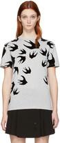 McQ by Alexander McQueen Grey Swallow T-Shirt
