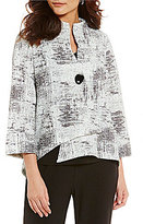 IC Collection One-Button Front Asymmetrical Jacket