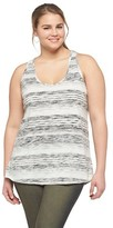 Mossimo Plus Size Loose Fit Tank Gray 2X