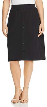 Junarose Plus Maci Button-Front Skirt