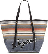 See by Chloe Striped Logo Canvas Tote Bag