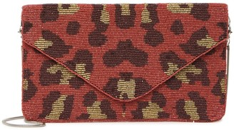 Ricki Designs Leopard Print Beaded Clutch