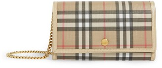 Burberry Vintage Check Chain Wallet