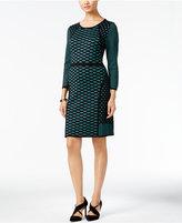 Nine West Dot-Print Sweater Dress