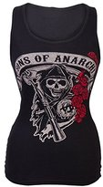 Old Glory Sons of Anarchy Rose Reaper Juniors Tank Top | S