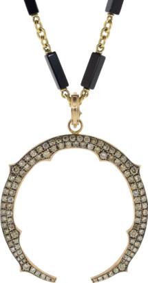 Sylva & Cie Champagne Diamond Horse Shoe Pendant