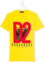 DSQUARED2 Teen logo rave T-shirt