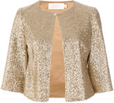 Goat cropped sequin jacket