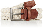 Barneys New York Men's Braided Belt-TAN