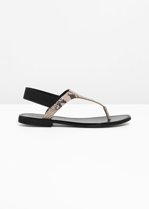 And other stories Snake T-Bar Strap Sandals