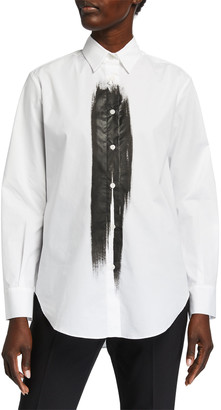 Piazza Sempione Brushstroke-Front Tunic Shirt