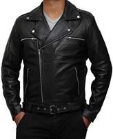 The Custom Jacket Negan Jacket Geniune Leather Walking Biker Dead Racer Motorcycle Outfit (M, )