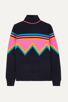 Chinti and Parker Cashmere And Wool-blend Turtleneck Sweater - Navy