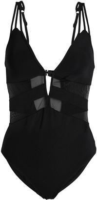 Jets Mesh-paneled Cutout Swimsuit