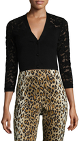 Carolina Herrera Women's Cropped Wool Cardigan