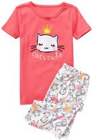 Gymboree Cats Rule Shortie 2-Piece Gymmies