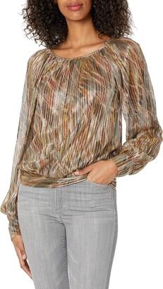 Ramy Brook Women's Lucille Metallic Knit Long Sleeve Top