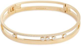 Messika 'Move Romane' diamond 18k yellow gold openwork bangle