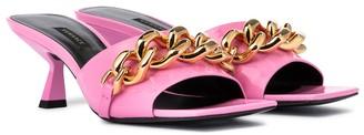 Versace Medusa Chain patent leather sandals