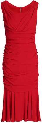 Dolce & Gabbana Ruched Silk-crepe Dress
