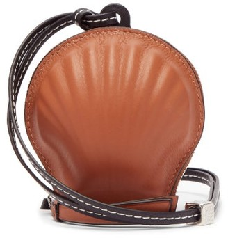 Loewe Paula's Ibiza - Seashell Leather Necklace Bag - Brown