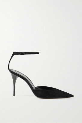 Saint Laurent Lexi Suede Pumps - Black