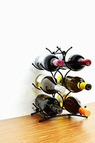 Superiore Livello Turin Wine Rack 6 Bottle Countertop Metal Wine Holder Free Standing Rack for Floor or Table Top Modern Scroll Art Design Perfect for Storage