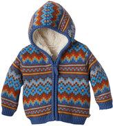 Cuddl Duds Baby Boy Fairisle Sherpa-Lined Hoodie