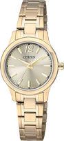 JCPenney Citizen Quartz Citizen Womens Gold-Tone Stainless Steel Watch EL3032-53P