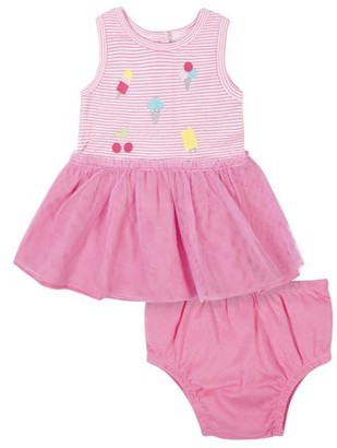 Gerber Baby Girl Tulle Dress and Diaper Cover, 2pc
