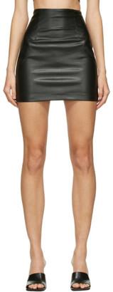 GAUGE81 Black Faux-Leather Umea Miniskirt